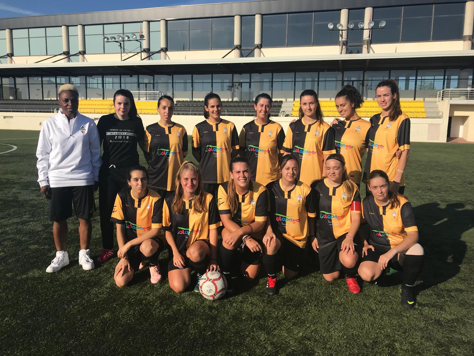 Foto de equipo del aficionado femenino