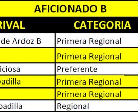 Pretemporada segundo equipo 2018/2019
