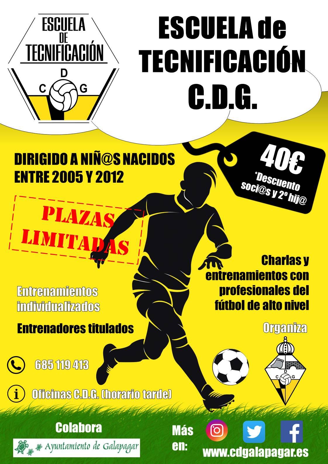 Cartel Escuela de Tecnificación CDG