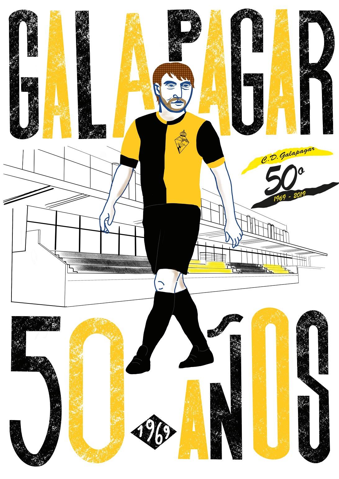 Cartel conmemorativo 50ª Aniversario CDG